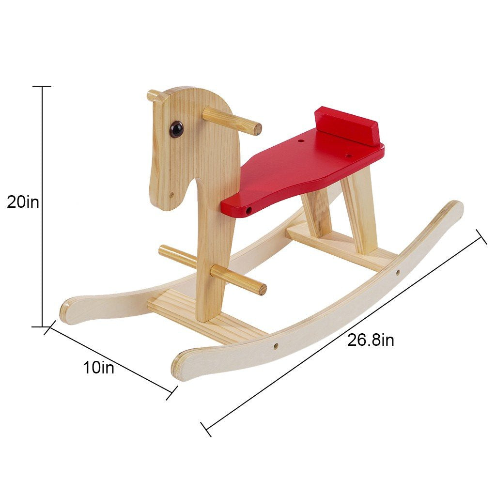 Wooden Rocking Horse Toys For 1-3 Year Old
