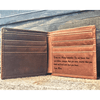 Family Gifts - ENGRAVED TO MY SON WALLET
