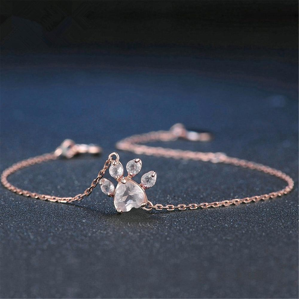 Rose Gold Paw Jewelry Set
