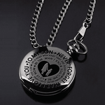 Family Gifts - To My Son Black Pocket Watch