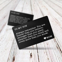 Family Gifts - Engraved Message Wallet Insert Card