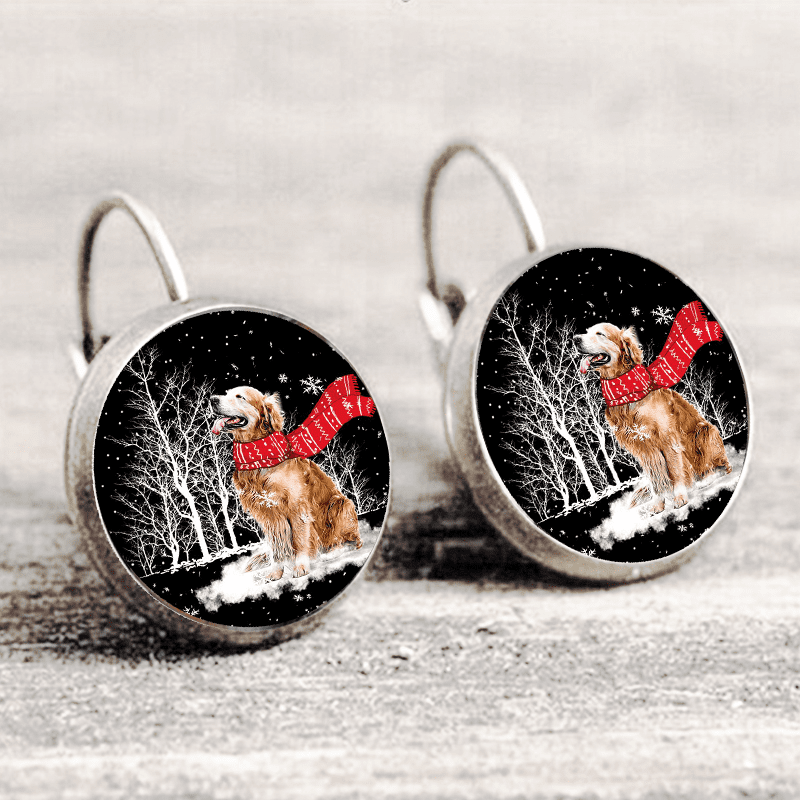 Golden Retriever™ EARRING Silver Only For Winners fb116
