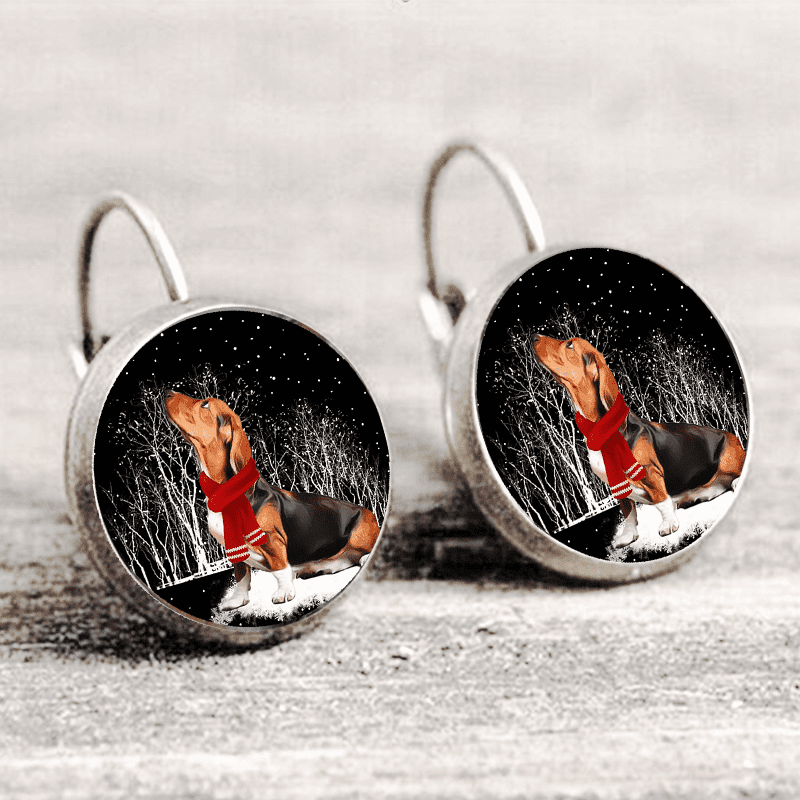 Basset Hound™ EARRING Silver Only For Winners fb101