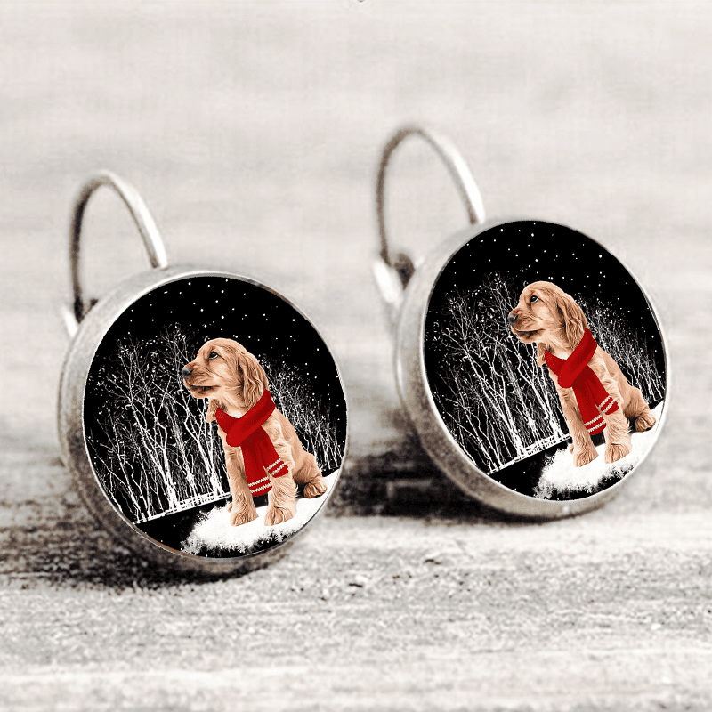 Cocker Spaniel™ EARRING Silver Only For Winners fb110