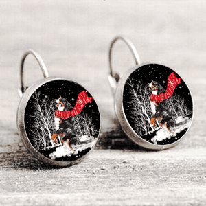 Bernese Mountain™ EARRING Silver Only For Winners fb104
