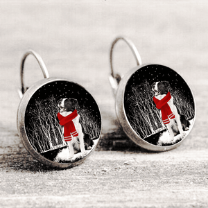 Border Collie™ EARRING Silver Only For Winners fb105