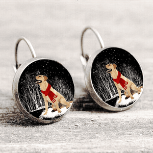 Labrador Retriever™ EARRING Silver Only For Winners fb122