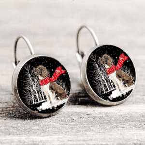 English Springer Spaniel™ EARRING Silver Only For Winners fb113