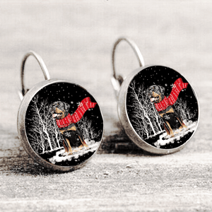 Rottweiler™ EARRING Silver Only For Winners fb126