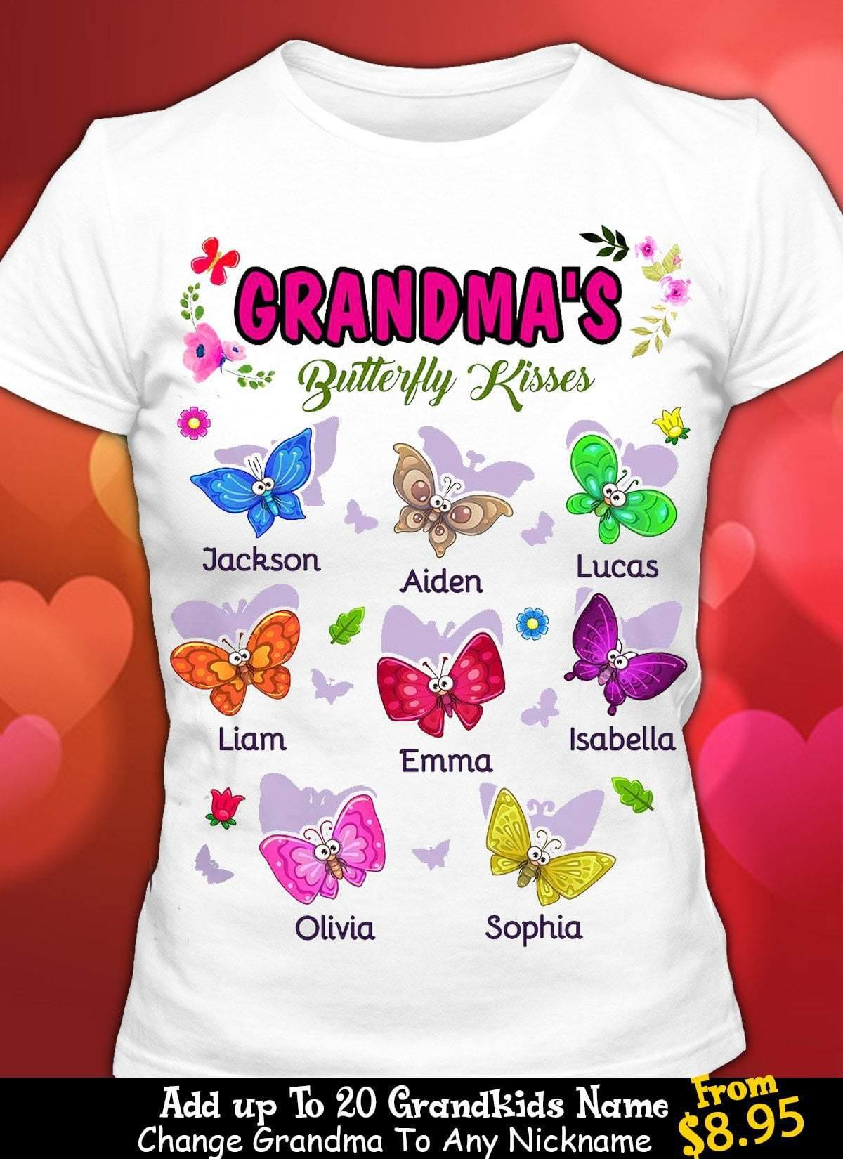 1 DAY LEFT - GET YOURS NOW - Persionalized Grandma Butterflies