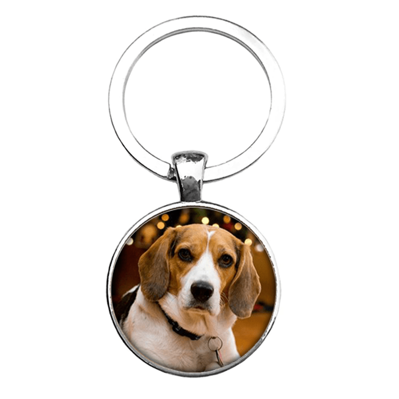 Personalized Photo Keychain For Dog Lovers