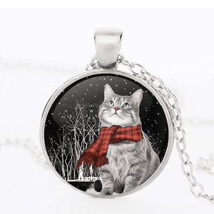 CAT IN SNOW PENDANT™ SILVER FOR WINNERS