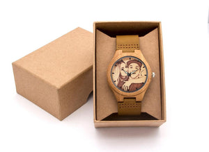 CUSTOM - ENGRAVED PHOTO BAMBOO WATCH