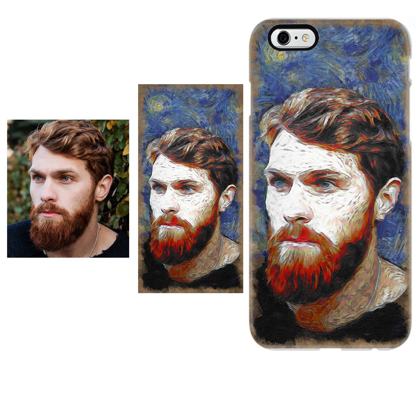 Van Gogh Photo Style - iPhone Case Custom Photo