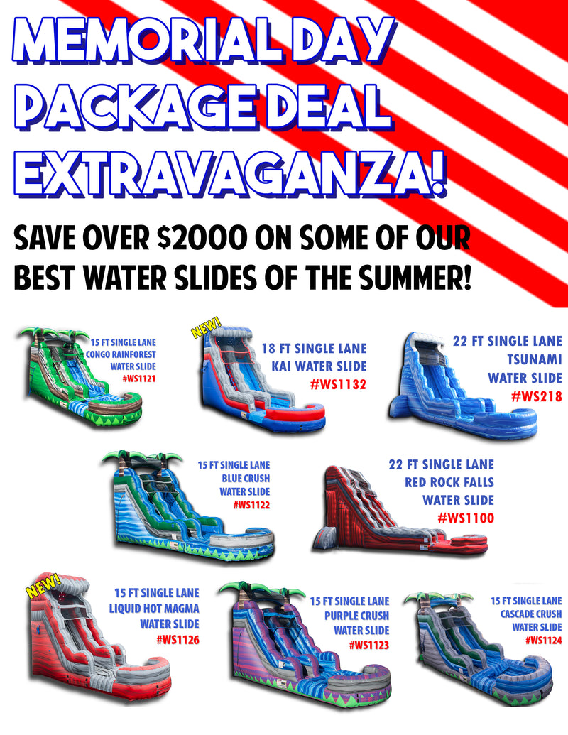 Memorial Day Water Slide Package Deal Extravaganza!
