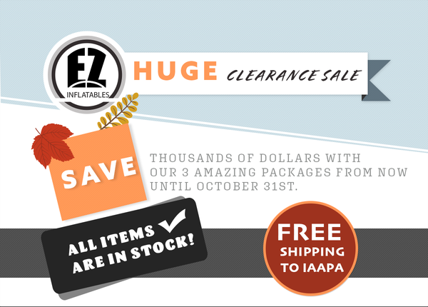 Save thousands of dollars with our 3 amazing packages from now until October 31st!