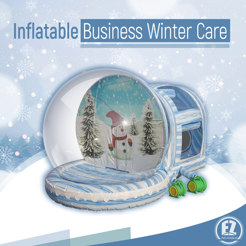 Caring for your inflatables in the winter; in the cold