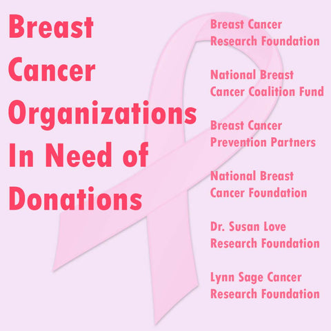 Breast Cancer Organizations in Need of Donations