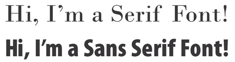 The difference between a serif and sans serif font