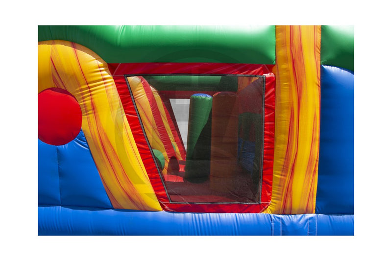 100 Ft Xtreme Run Obstacle Course-I1137-EZ Inflatables
