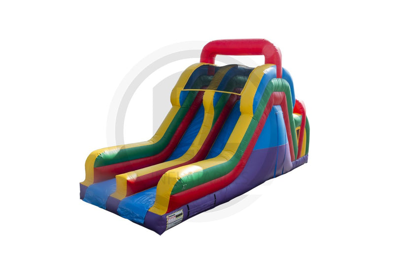 16 Ft Rainbow Run Backload Slide-S1022-EZ Inflatables