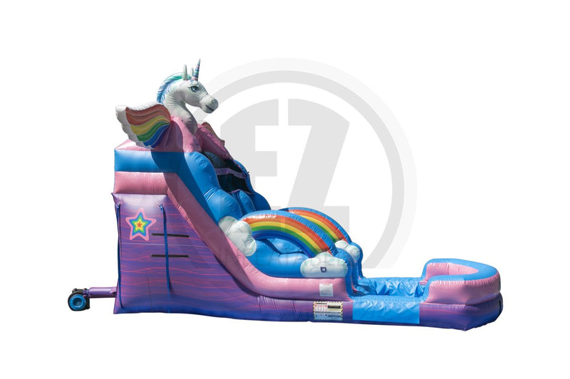 16 Ft Unicorn Water Slide-WS1335-EZ Inflatables