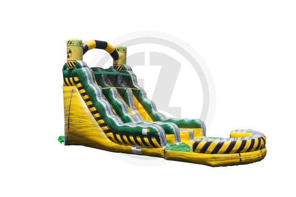 18 Ft Biohazard Falls Wet Dry Slide-WS1279-EZ Inflatables