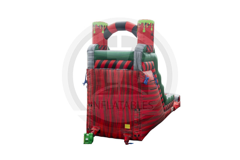 18 Ft Biohazard Red Single Lane-WS1128-EZ Inflatables