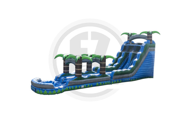 18 Ft Blue Crush DL + Slip & Slide-WS1268-EZ Inflatables