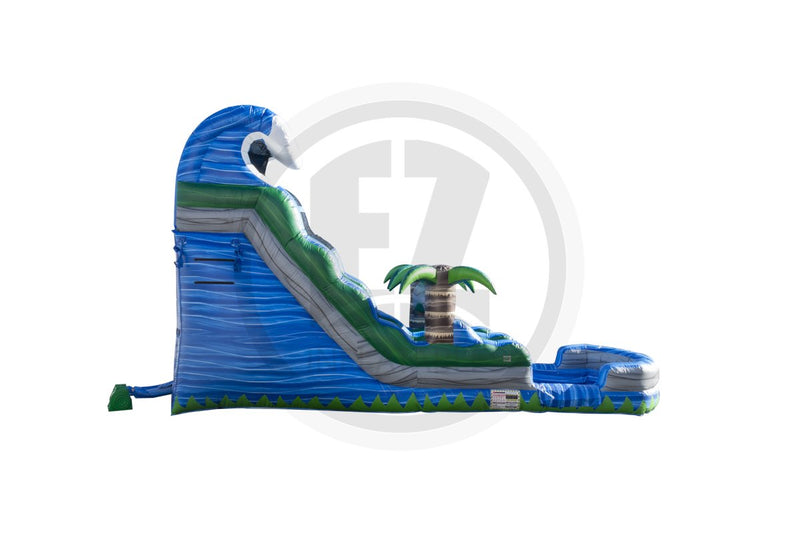 18 Ft Blue Crush Tsunami Water Slide-WS1186-IP-EZ Inflatables