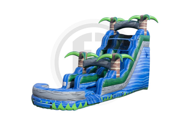 18 Ft Blue Crush Water Slide Inflated Pool-WS358-IP-EZ Inflatables