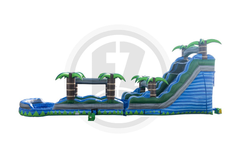 18 Ft Blue Crush With Slip & Slide-WS1017-EZ Inflatables (1361773592618)