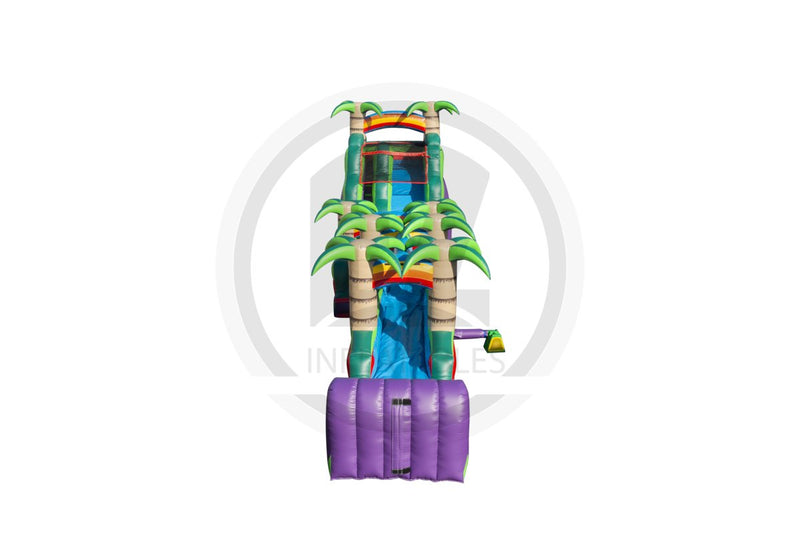 18 Ft Purple Paradise w/ Slip n Slide-WS1000-EZ Inflatables (1361770741802)