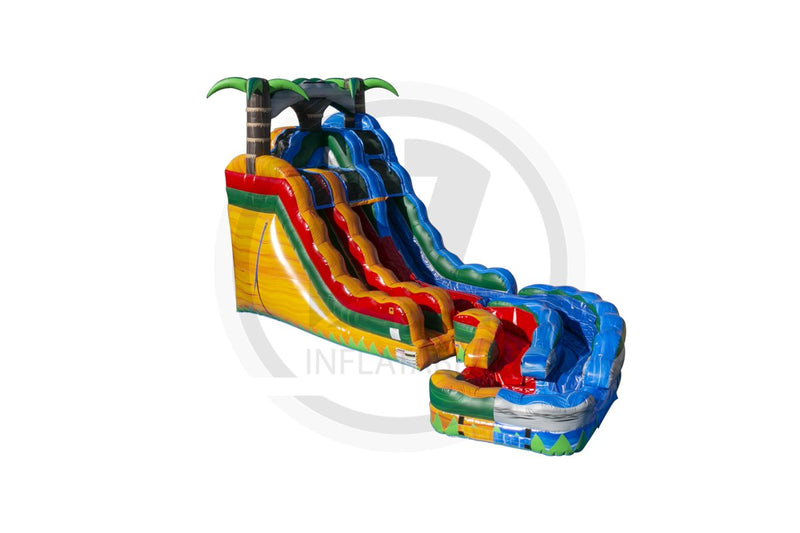20 Ft Tropical Blend Twist Water Slide DL-WS1370-EZ Inflatables