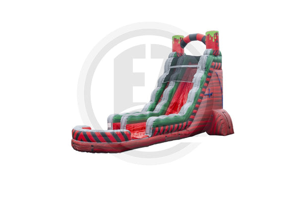 22 Ft Biohazard Red Water Slide-WS1130-EZ Inflatables