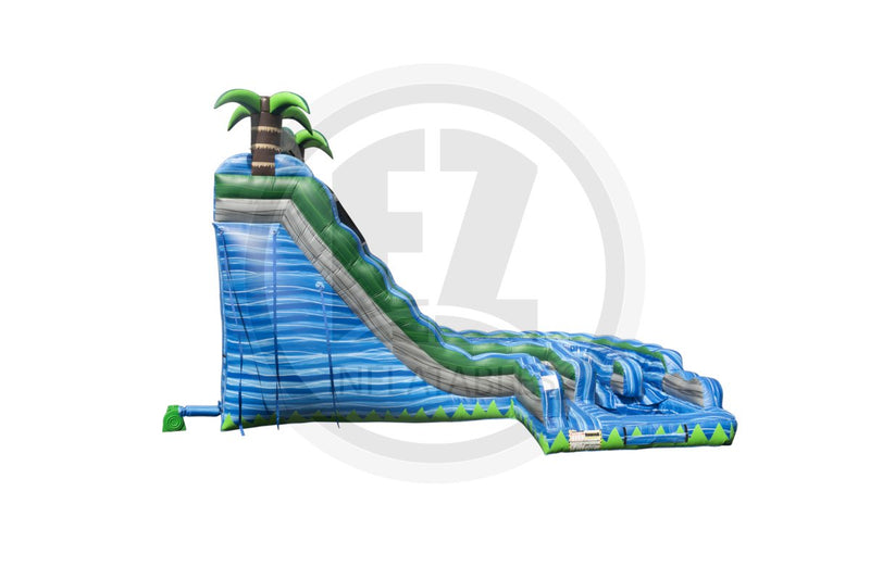 22 Ft Blue Crush Curvy Waterslide-WS1233-EZ Inflatables