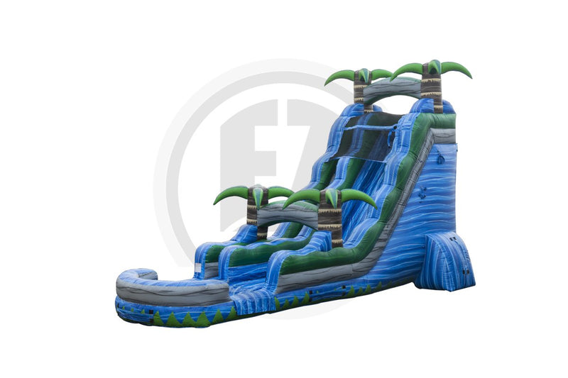 22 Ft Blue Crush Water Slide-WS342-IP-EZ Inflatables