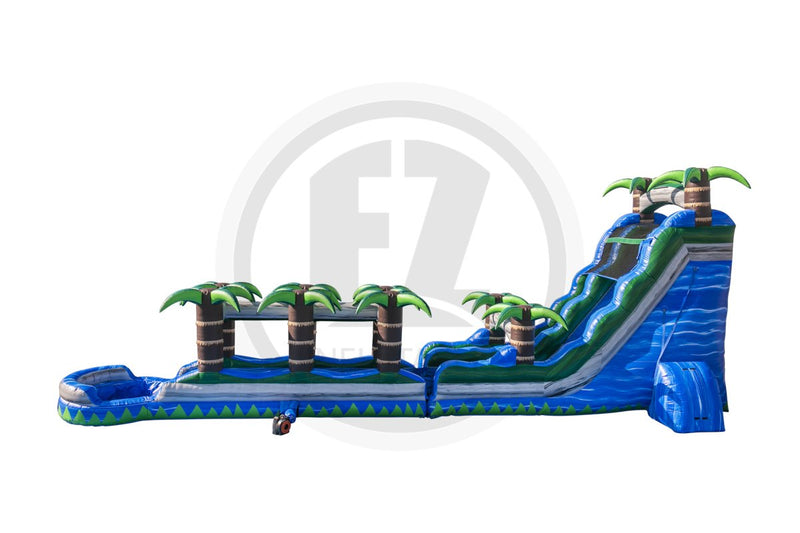 22 Ft Blue Crush with Slip & Slide-WS343-EZ Inflatables (1394952929322)