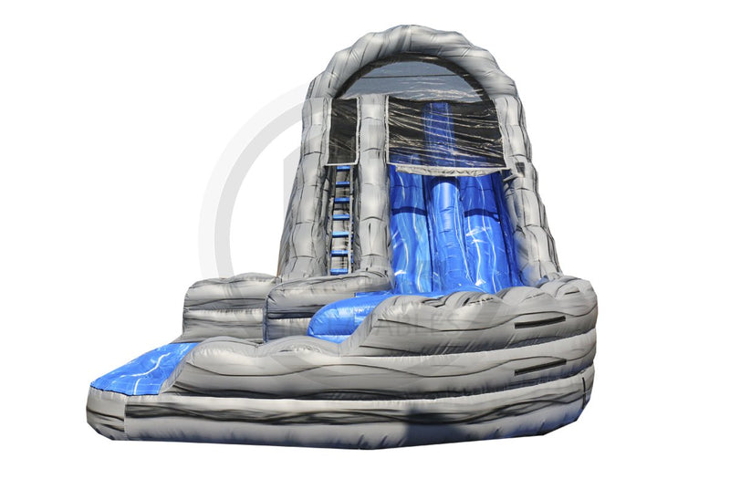 22 Ft Mt. Rushmore Dual Lane Water Slide-WS1306-EZ Inflatables