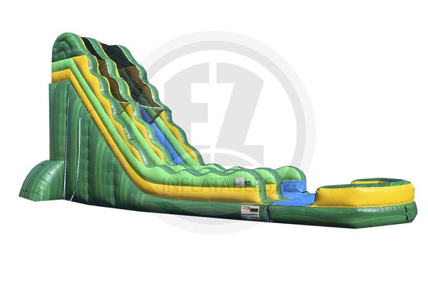 24 Ft Green Rush Water Slide-WS1075-EZ Inflatables