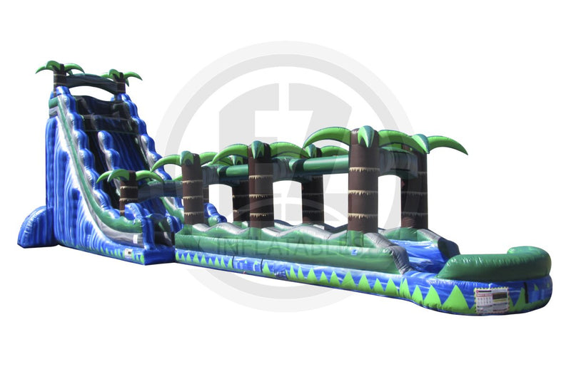 27 Ft Blue Crush Single Lane Water Slide-WS1001-EZ Inflatables (1362068308010)