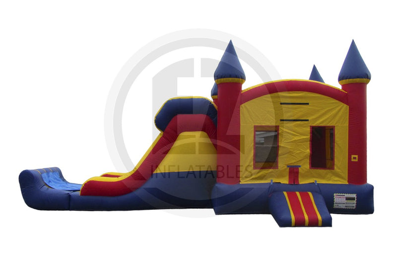 3 in 1 Primary Color Castle Combo-C1004-EZ Inflatables (1361256775722)