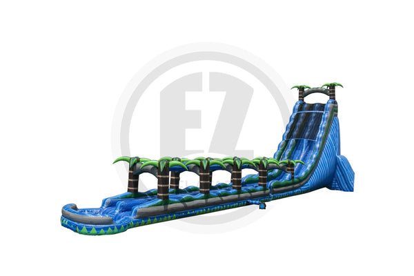 37 Ft Blue Crush + Slip & Slide DL-WS1338-EZ Inflatables
