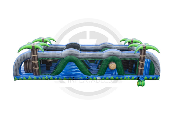 38 Ft Blue Crush Obstacle Course-I1113-EZ Inflatables