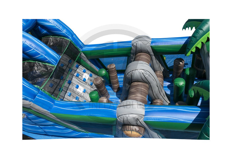 38 Ft Nile River Run Obstacle Course-I1136-EZ Inflatables