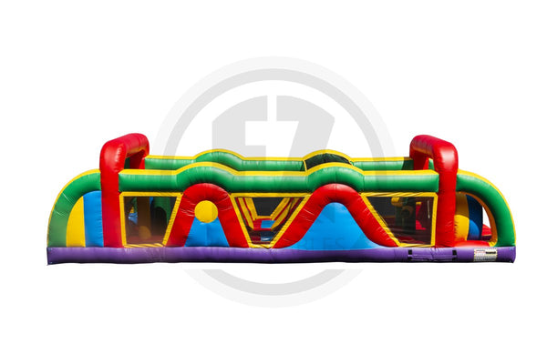 38 Ft Rainbow Run Obstacle Course-I1111-EZ Inflatables