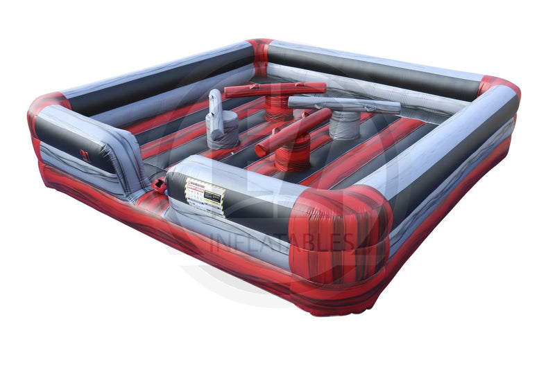 4 Man Red Marble Joust-G1053-EZ Inflatables (1387731812394)