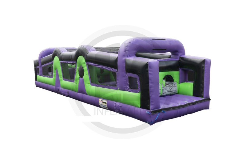 40 Ft Crazed Barrier Obstacle Course-I1126-EZ Inflatables