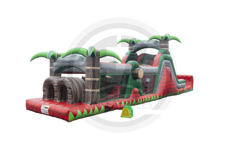 47 Ft Ruby Crush Wet Dry Obstacle Course-I1089-EZ Inflatables