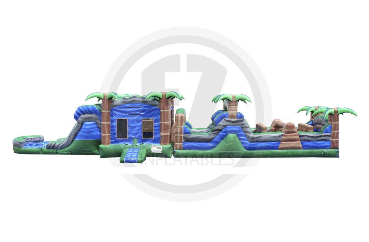 63 Ft Blue Crush Obstacle Course-I1016-EZ Inflatables (1360787669034)